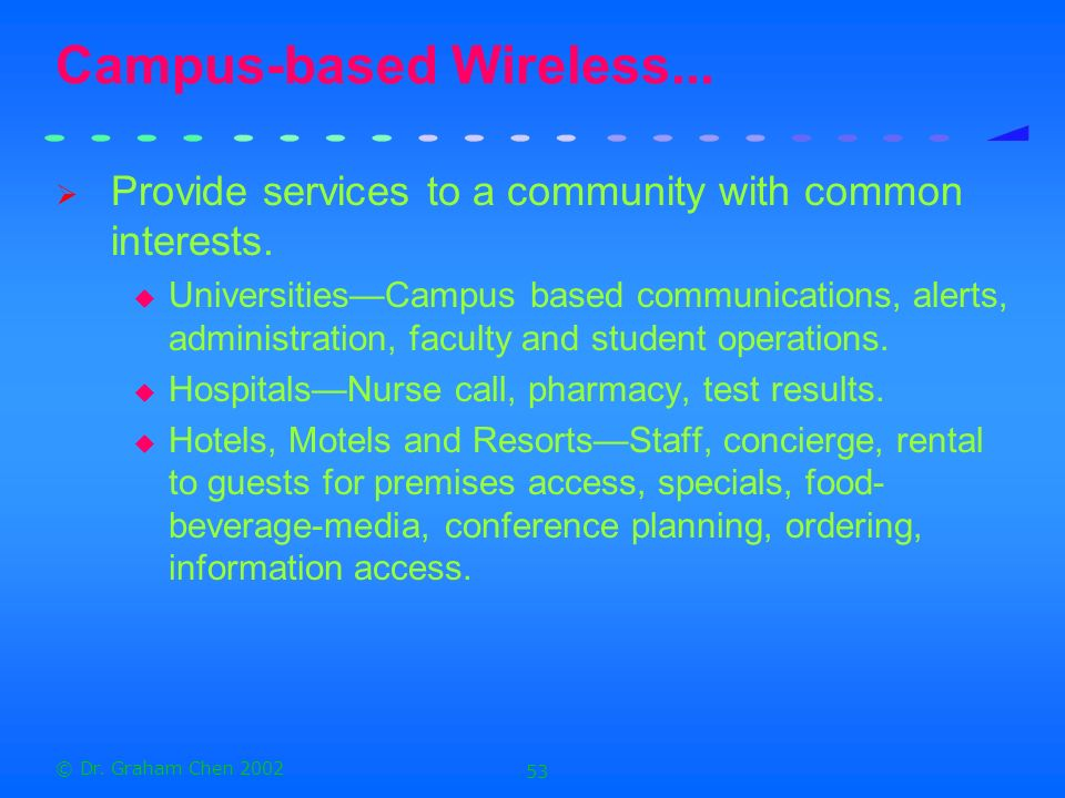 Campus-based Wireless...