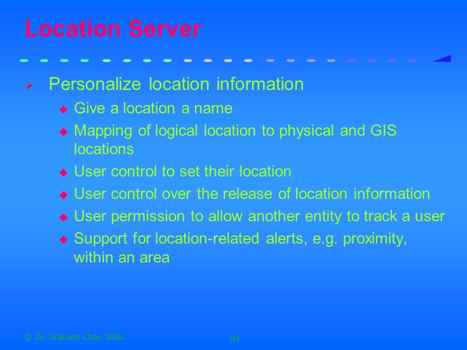 Location Server Personalize location information