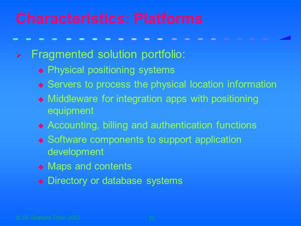 Characteristics: Platforms