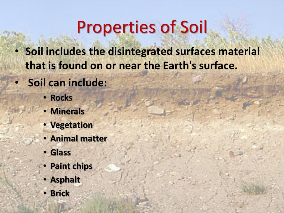 Soil analysis ppt video online download for Characteristics of soil