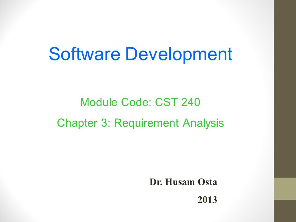 a requirement analysis of the software development of engineering Software engineers: job duties & requirements learn about the work responsibilities of a software engineer there are many layers of computer software, and each requires a specialist in.