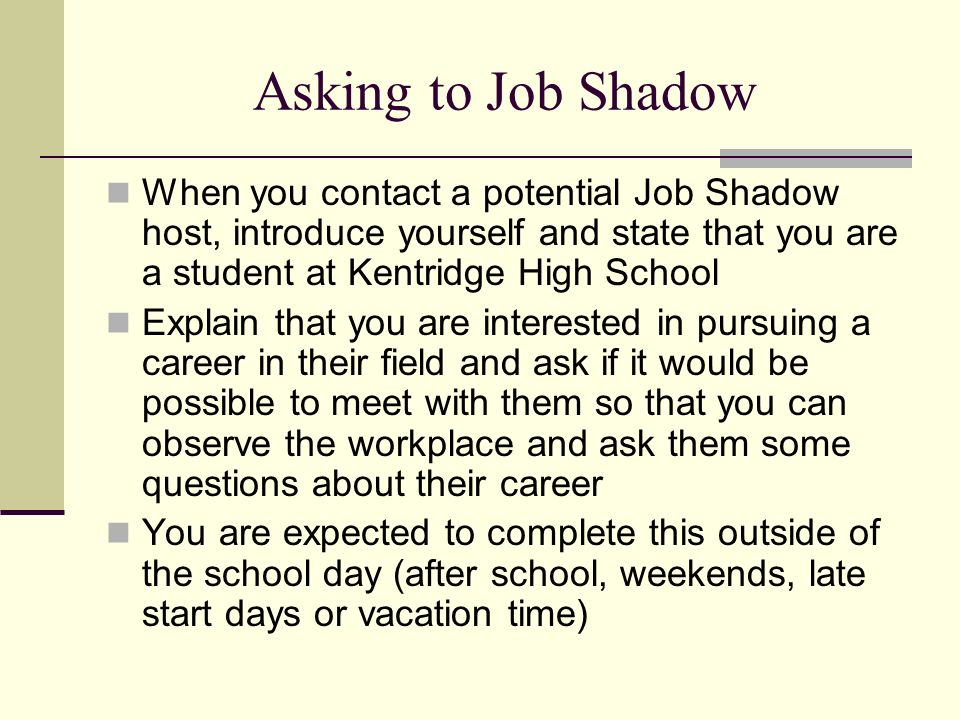 essay on job shadowing Dr berwick noted in his 2011 ihi national forum keynote that when he first got the job at cms my shadowing experience reminded of why i love health care so much.