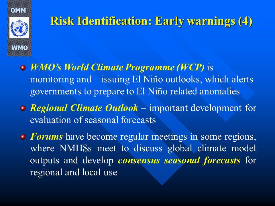 Risk Identification: Early warnings (4)