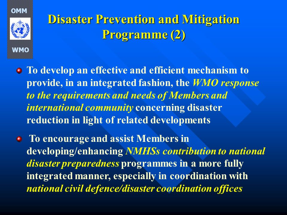 Disaster Prevention and Mitigation Programme (2)