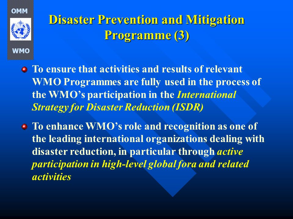 Disaster Prevention and Mitigation Programme (3)