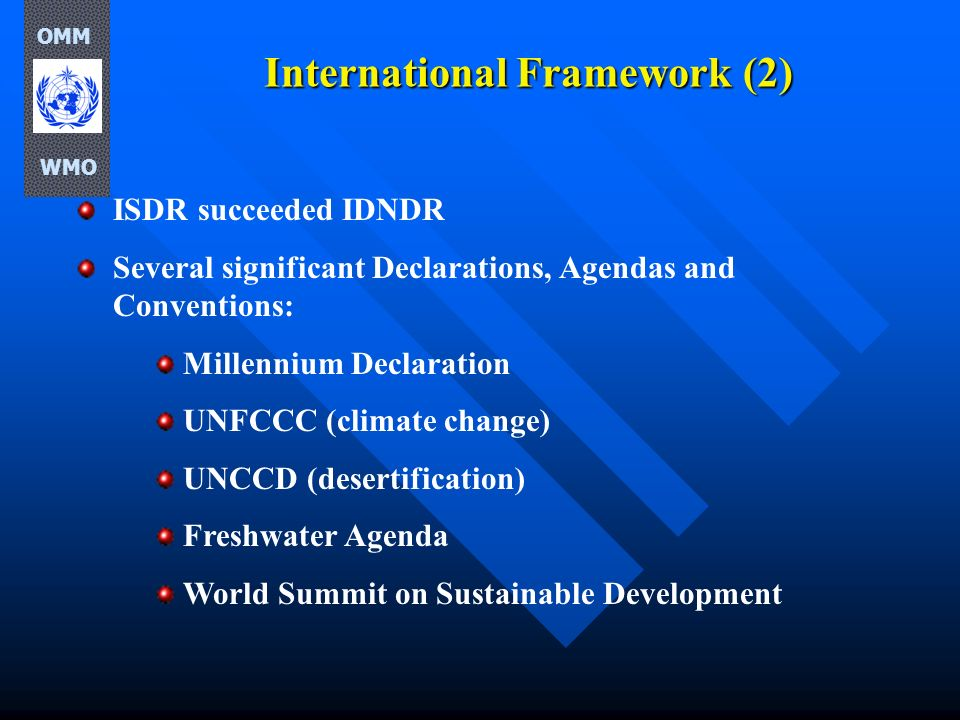 International Framework (2)