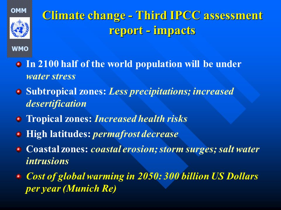 Climate change - Third IPCC assessment report - impacts
