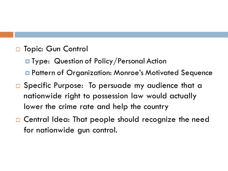 Essay on why gun control should be stricter