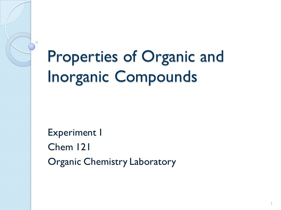 experiment 3 properties of organic compounds