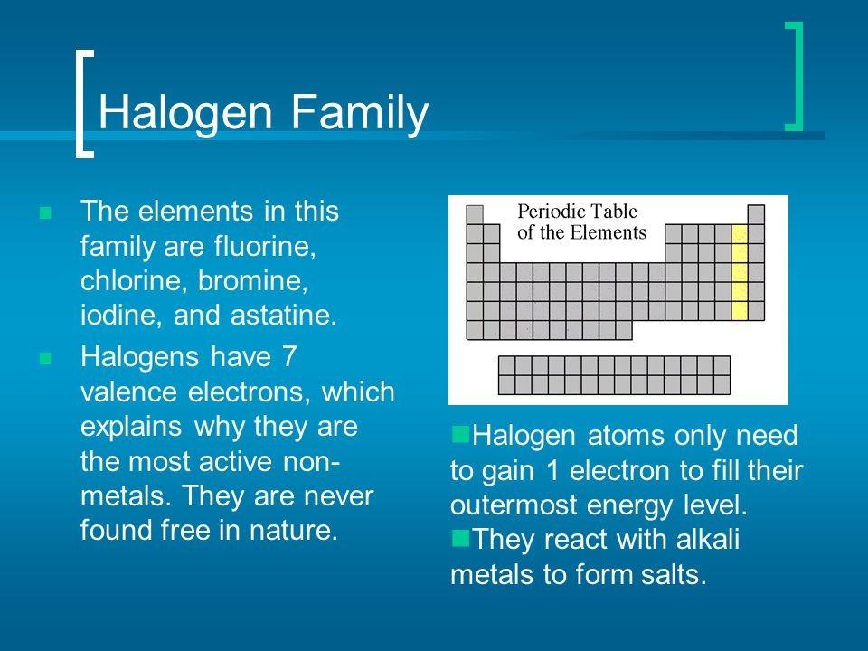 Atoms elements and the periodic table ppt download 67 halogen urtaz Gallery