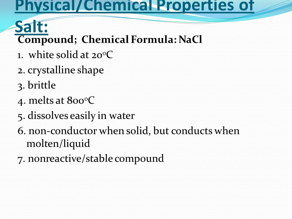 Chemical Makeup Salt Mugeek Vidalondon