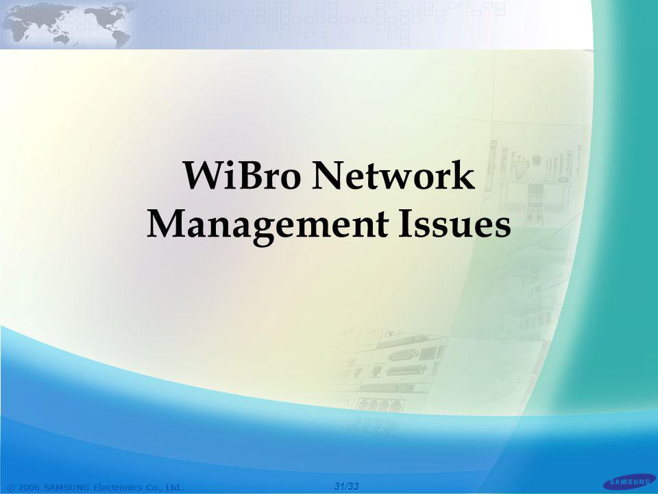 WiBro Network Management Issues