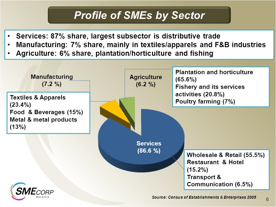 Profile of SMEs by Sector