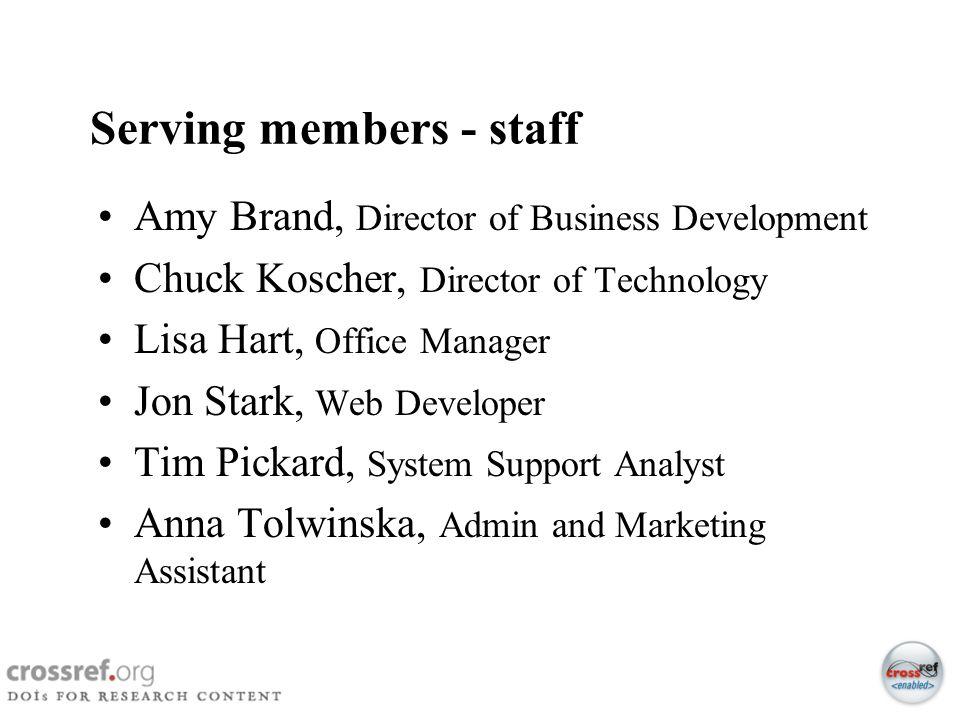Serving members - staff