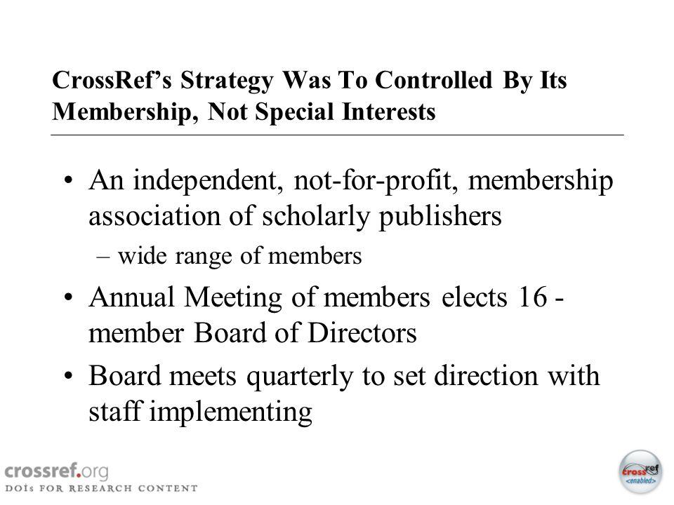 Annual Meeting of members elects 16 -member Board of Directors