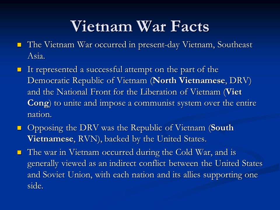 "the unique war between vietnam and united states The vietnam war, as seen by the visible anti-war movement in the united states ""america and vietnam are not the unique—the award for lamar's damn is."