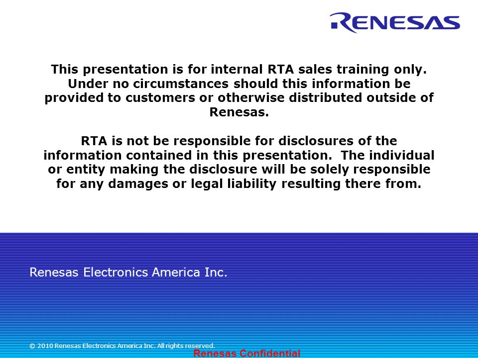 This presentation is for internal RTA sales training only - ppt ...