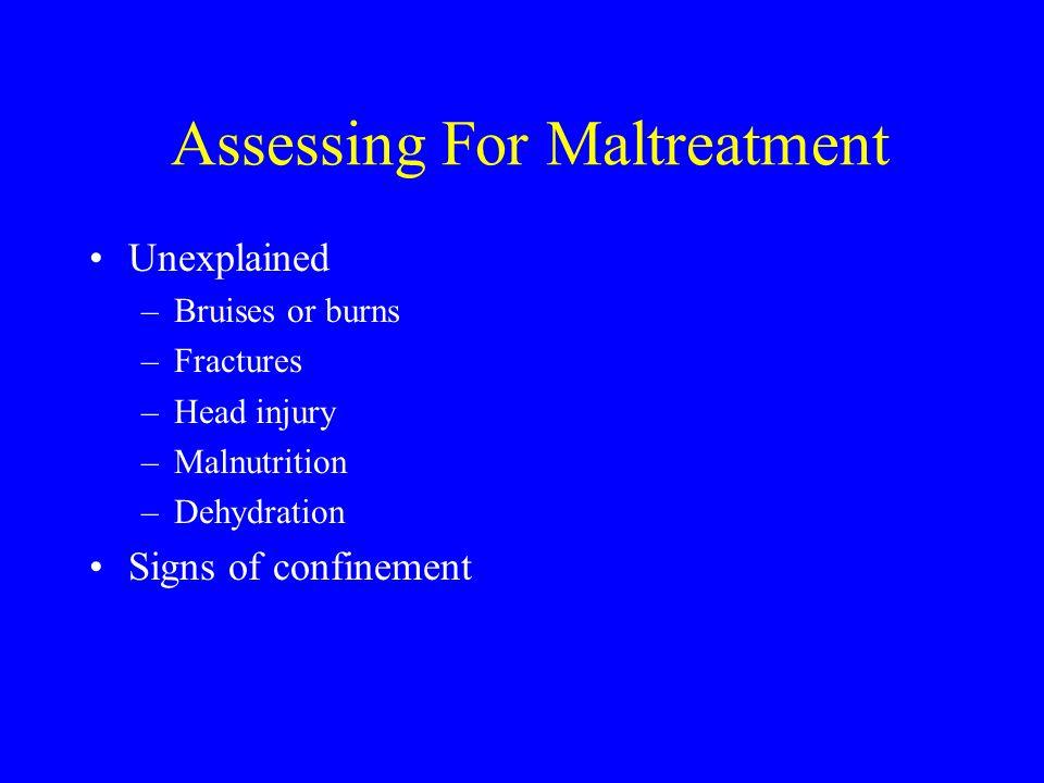 Assessing For Maltreatment