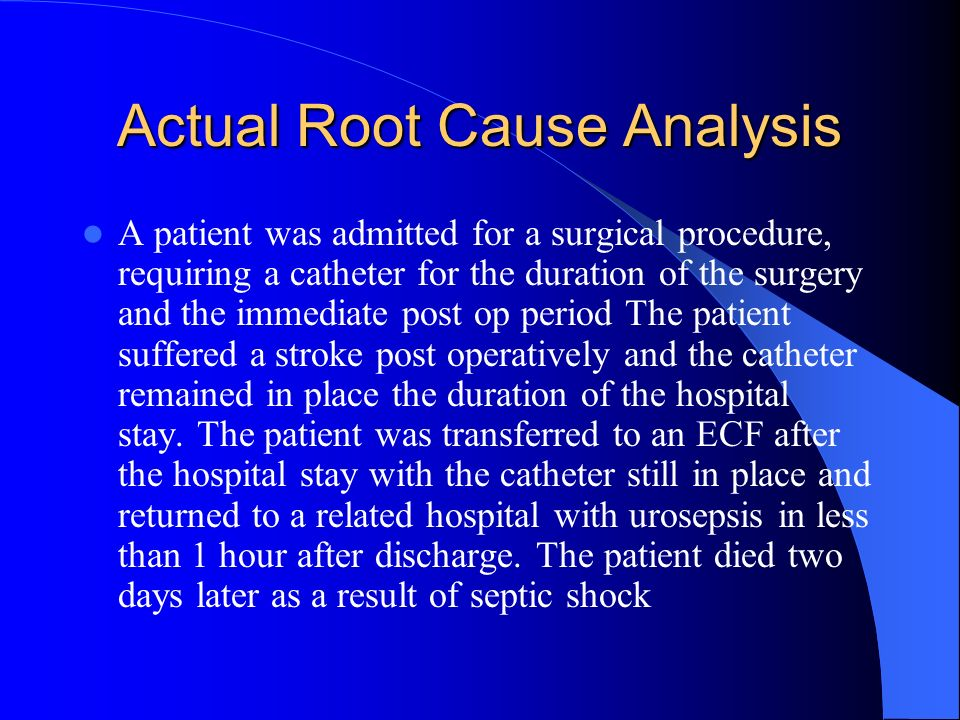 Actual Root Cause Analysis