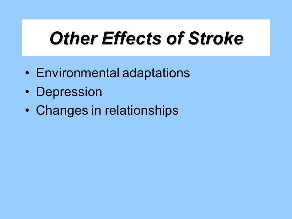 Other Effects of Stroke