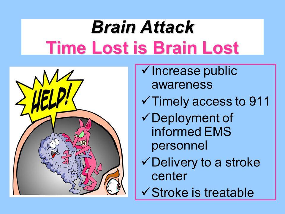 Brain Attack Time Lost is Brain Lost