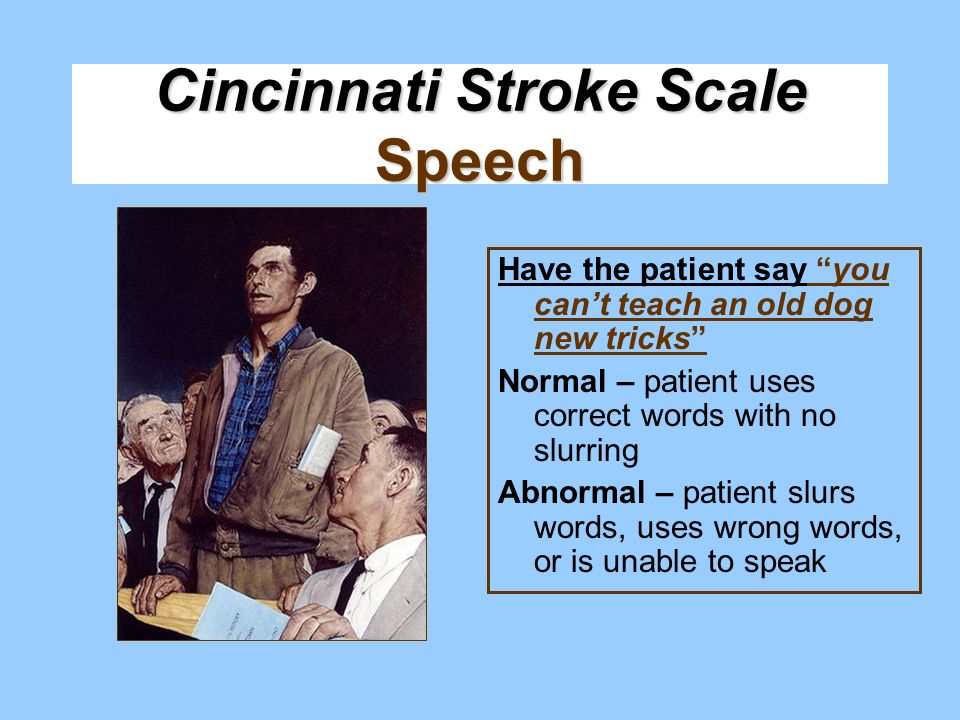 Cincinnati Stroke Scale Speech