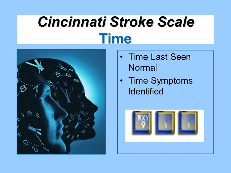Cincinnati Stroke Scale Time