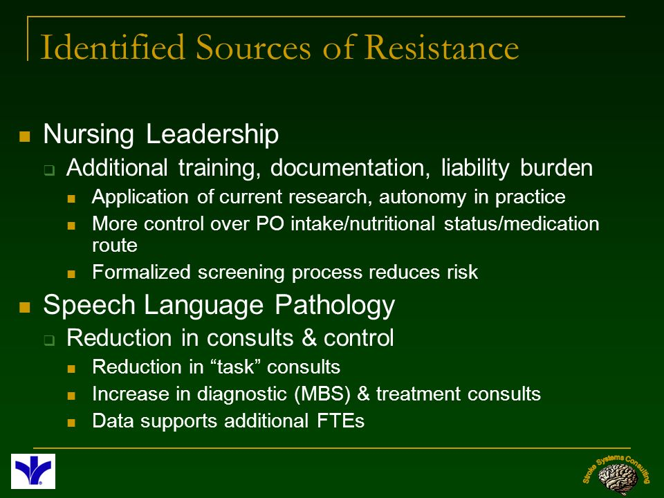 Identified Sources of Resistance