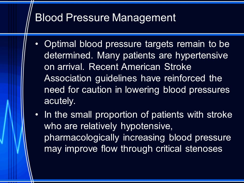 Blood Pressure Management