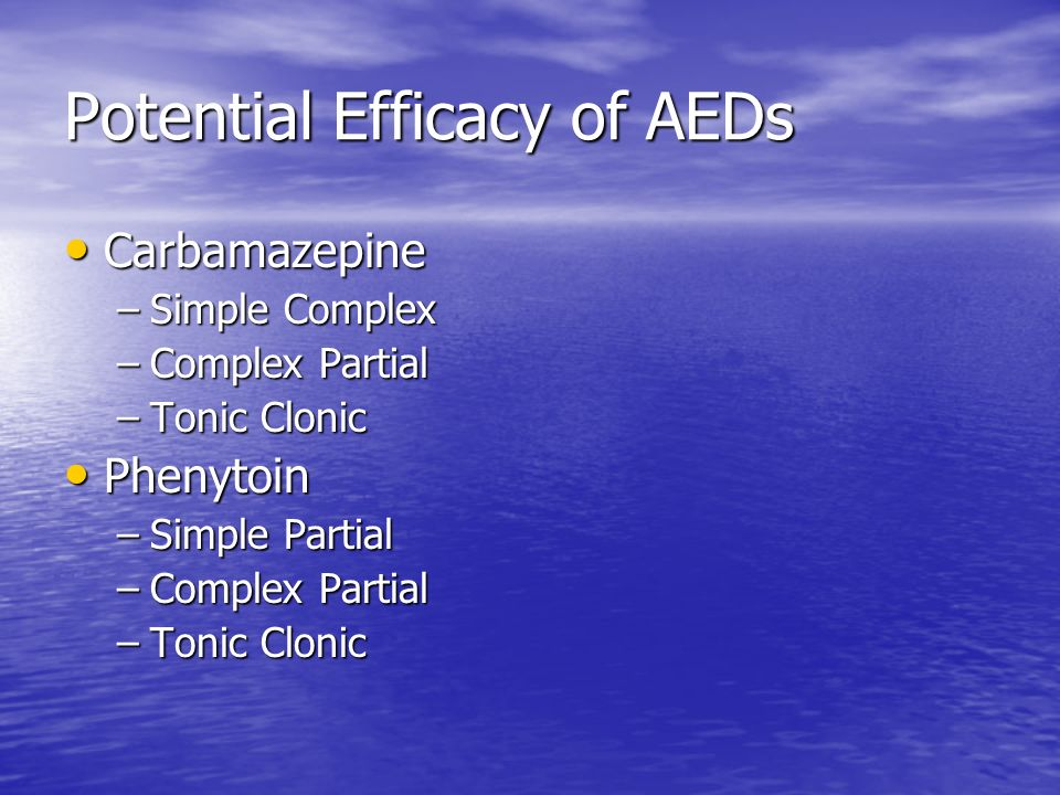 Potential Efficacy of AEDs