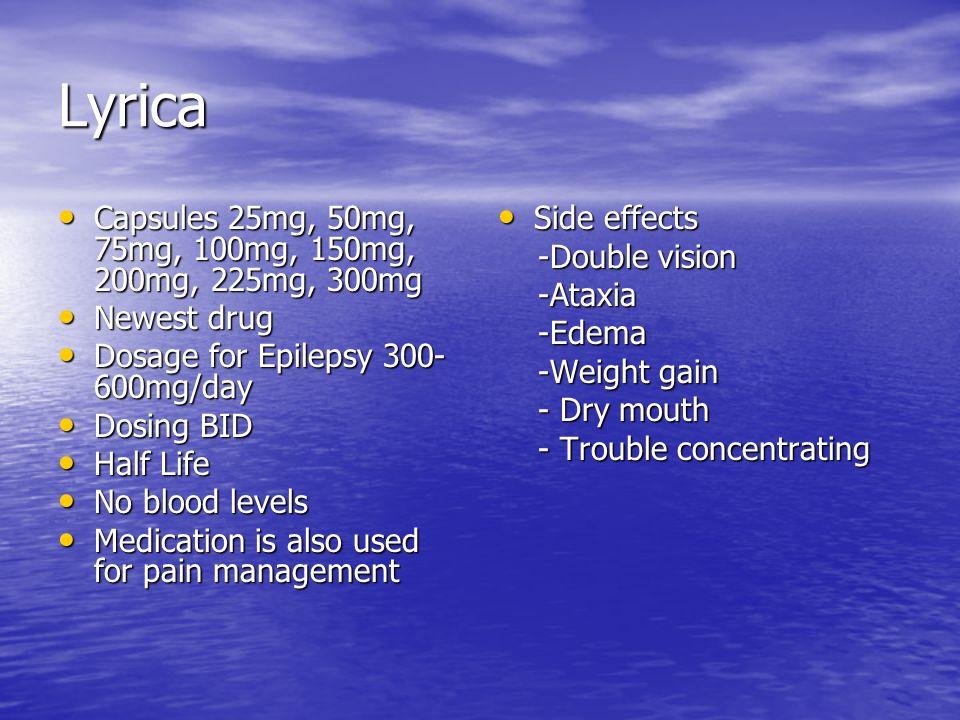 Lyrica Capsules 25mg, 50mg, 75mg, 100mg, 150mg, 200mg, 225mg, 300mg