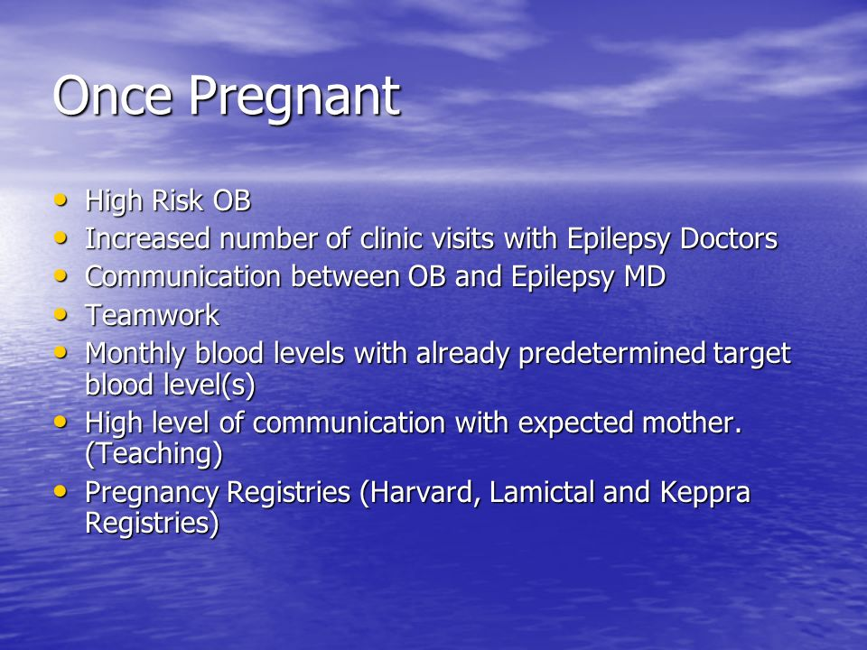 Once Pregnant High Risk OB