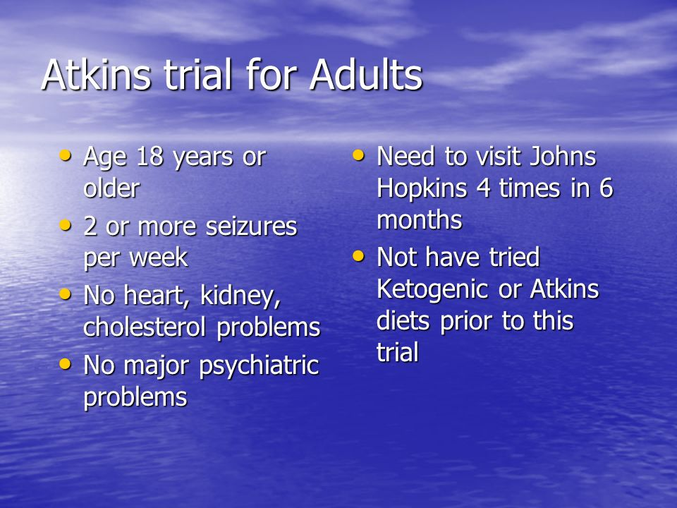 Atkins trial for Adults