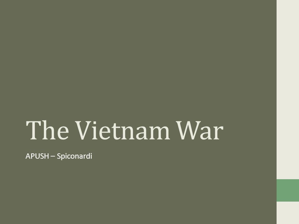 apush vietnam war essay The vietnam war was a prolonged military conflict that started as an anticolonial  war against the french and evolved into a cold war confrontation between.