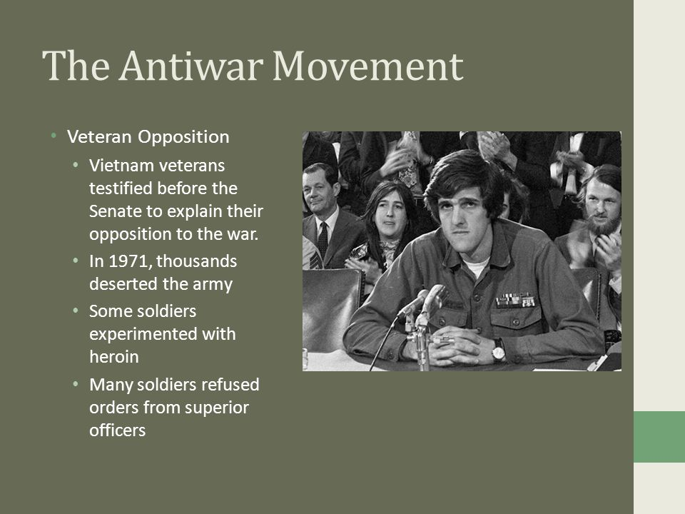 antiwar movement View homework help - antiwar movementpdf from history 101 at opportunities for learning-santa clarita lesson activity antiwar movement the lesson activities will help you meet these educational.