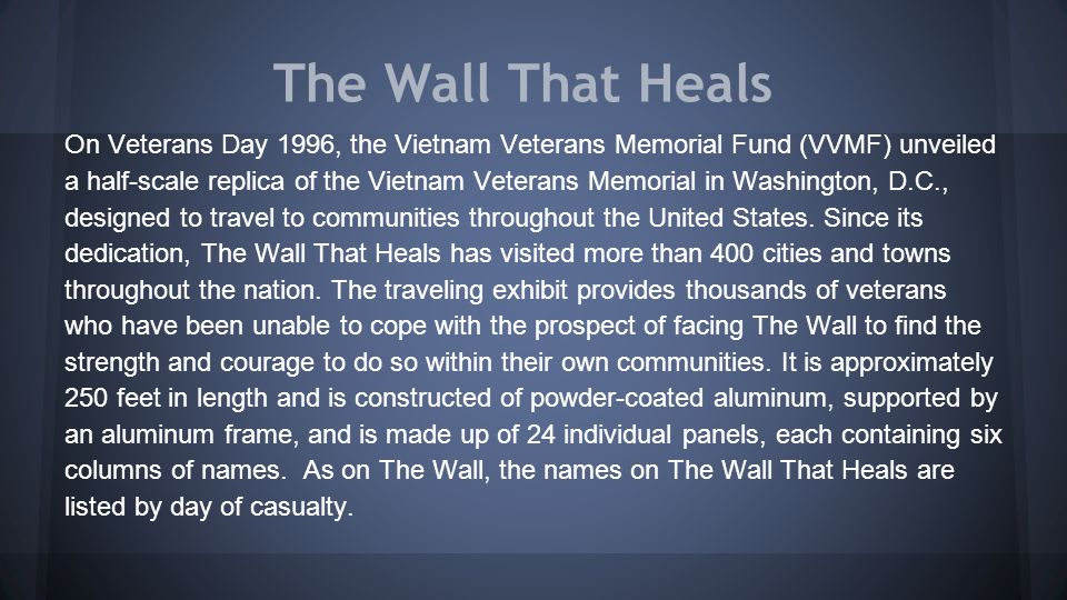 Vietnam Veterans Memorial - Ppt Video Online Download