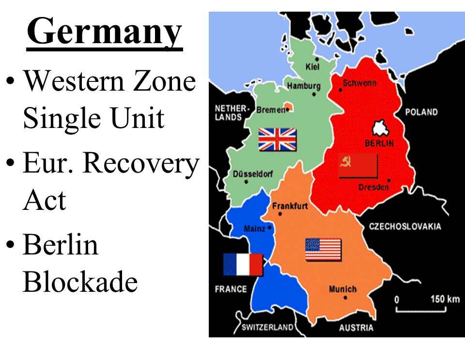 Germany Western Zone Single Unit Eur. Recovery Act Berlin Blockade
