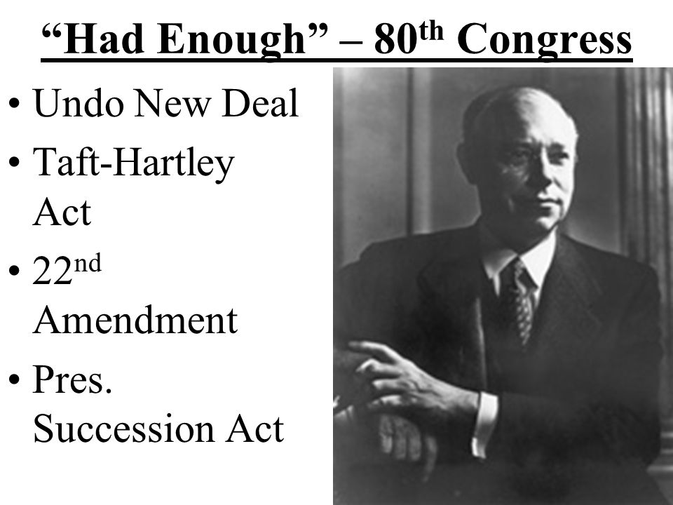 Had Enough – 80th Congress