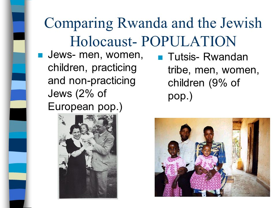 Comparing Rwanda and the Jewish Holocaust- POPULATION