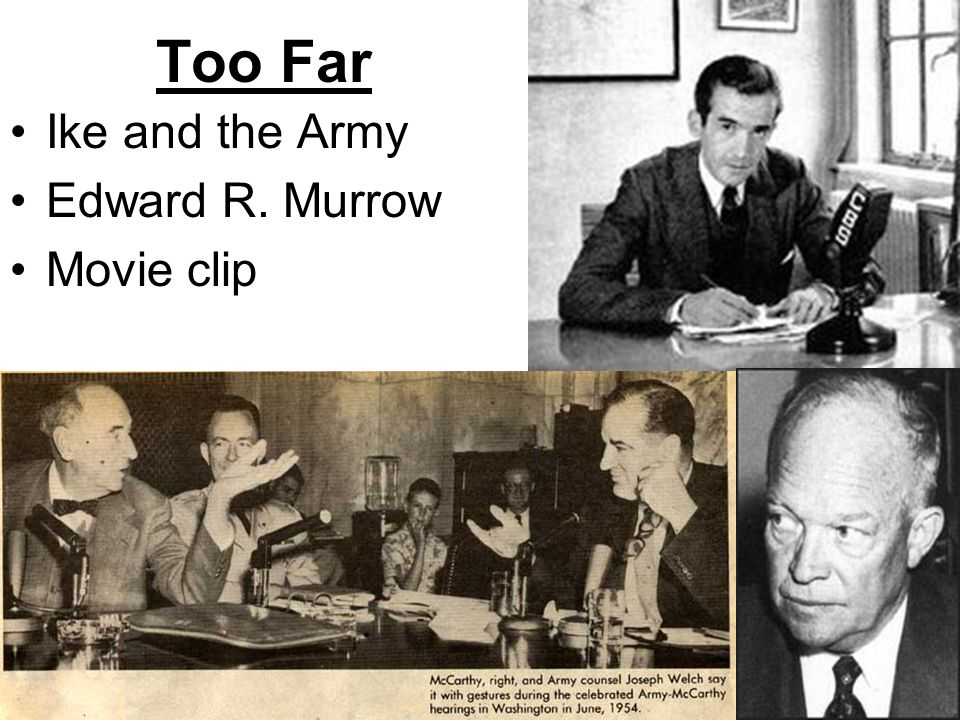 Too Far Ike and the Army Edward R. Murrow Movie clip