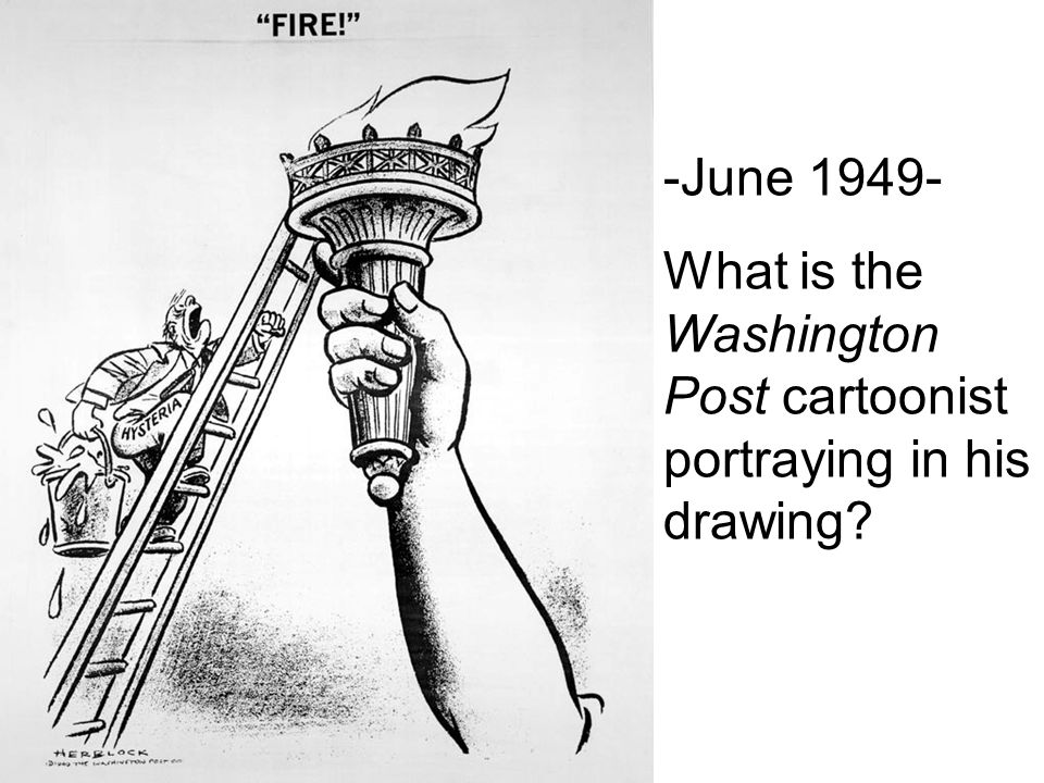 -June What is the Washington Post cartoonist portraying in his drawing