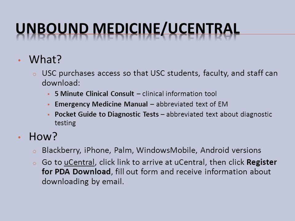 Unbound Medicine/uCentral