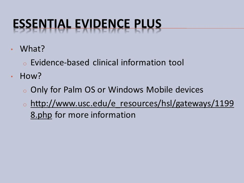 Essential Evidence Plus