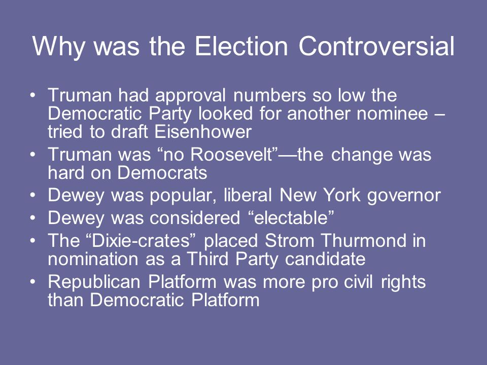 Why was the Election Controversial