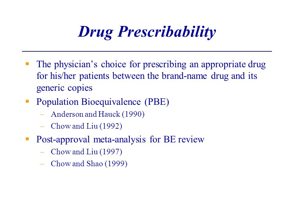 Drug Prescribability