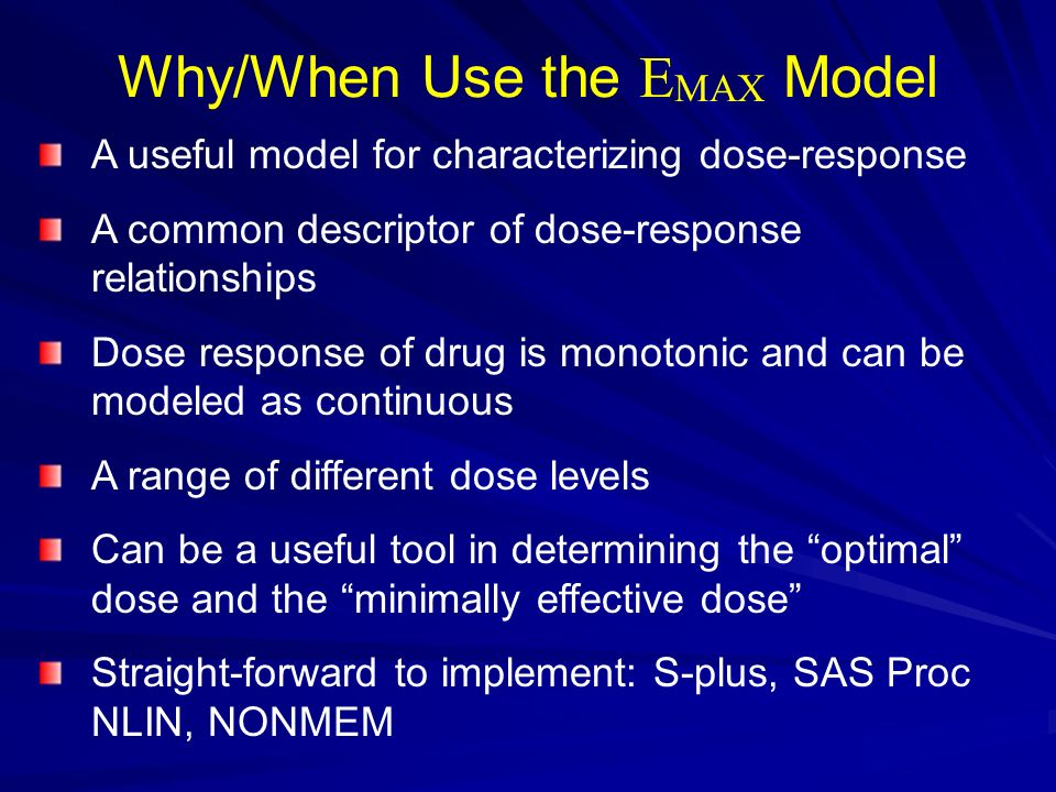 Why/When Use the EMAX Model