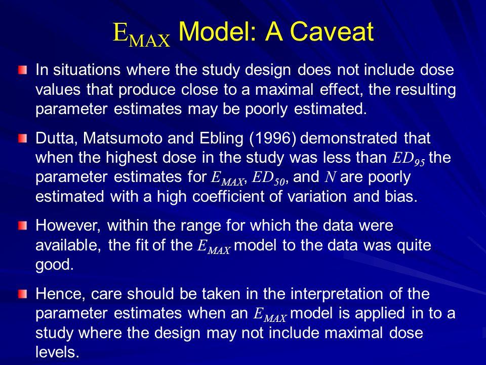 EMAX Model: A Caveat