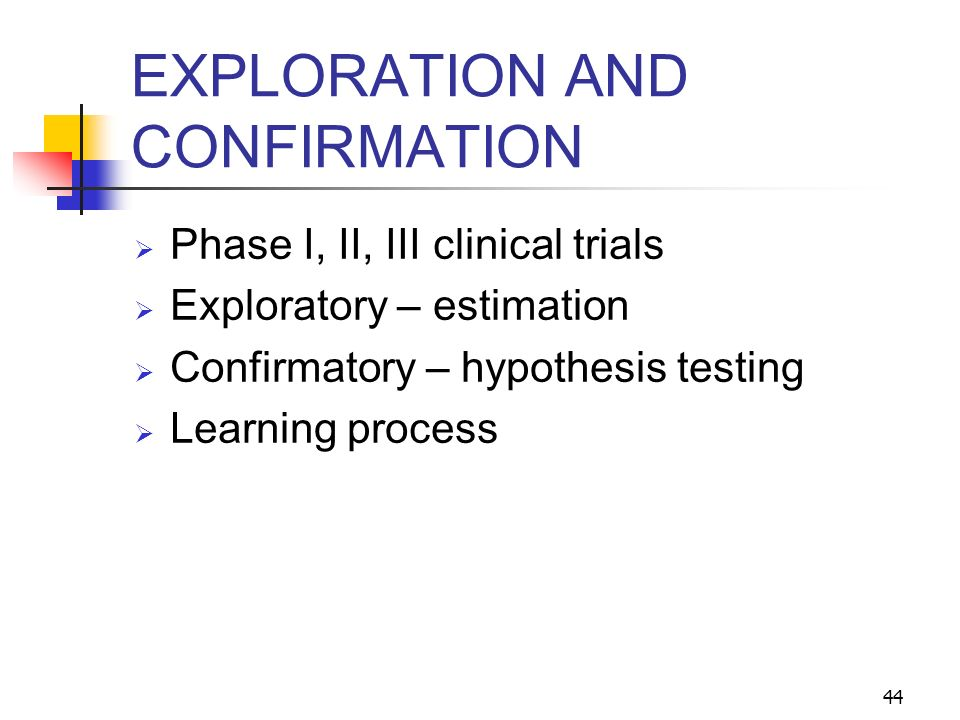 EXPLORATION AND CONFIRMATION