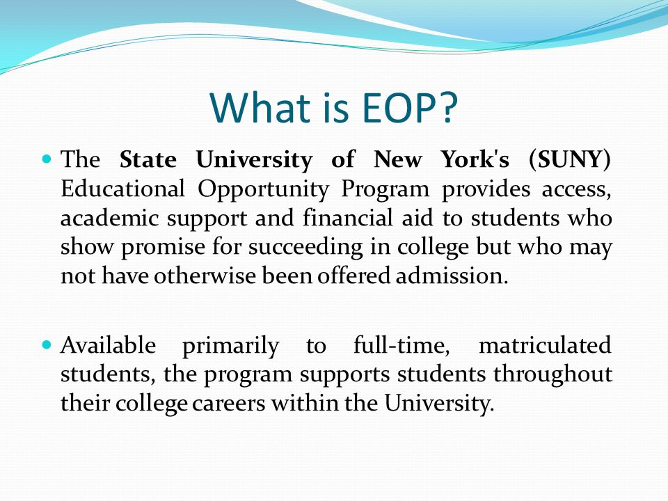 suny eop essay How to write the suny college of environmental science and forestry essay 2017-2018 september 20, 2017   collegevine college essay team in college essays , essay breakdown join thousands of students and parents getting exclusive high school & college admissions content.