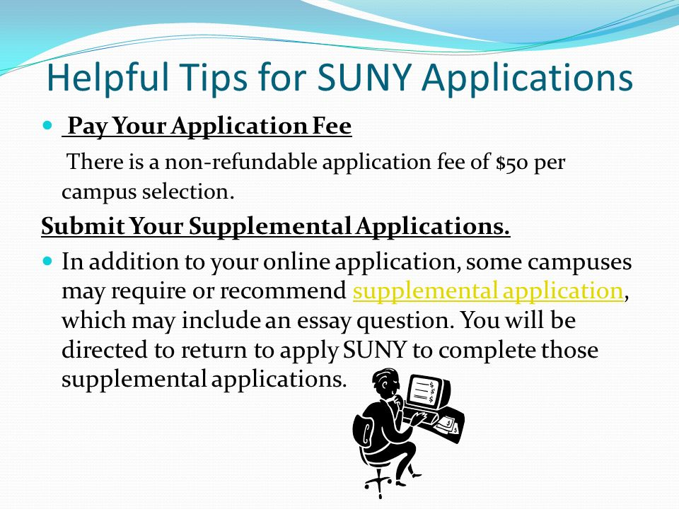 suny application no essay (aligned to 2017-18 common application topics) 1 contact the recruitment response center at 8003423811 or at asksuny@sunyedu activities tab essays tab: essay.